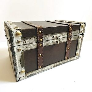Small rustic storage trunk